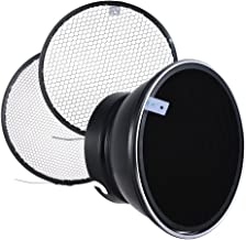 Andoer 7inch Elinchrom Beauty Dish Reflector with 10   30   50   Grids for Elinchrom Mount Studio Strobe Flash Speedlite