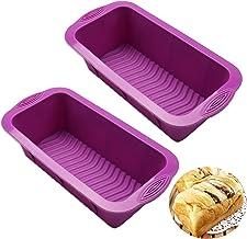 "Silicone Bread Loaf Pan Nonstick Baking Toast Molds 8.3""x3.6"" Value 1/2/3 Pack, Reusabl Food Grade Bakeware Pans for Homem..."