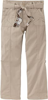 Eddie Bauer Little Girls' Uniform Twill Roll-Up Pant