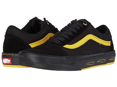 Vans BMX Old Skool Protm ((Larry Edgar) Black/Yellow) Men