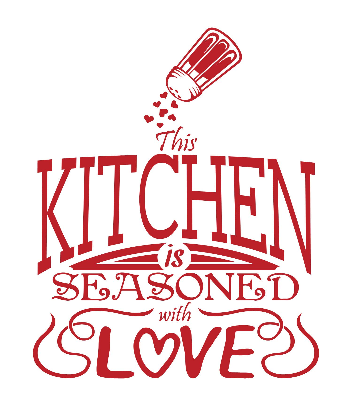 Amazon Com Kitchen Decals For Wall Home Design Ideas Quotes Word Art Decorations Vinyl Decor Dining Red