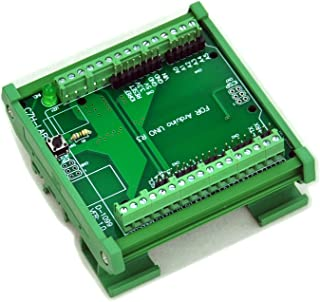 Electronics-Salon DIN Rail Mount Screw Terminal Block Adapter Module, For Arduino UNO R3.