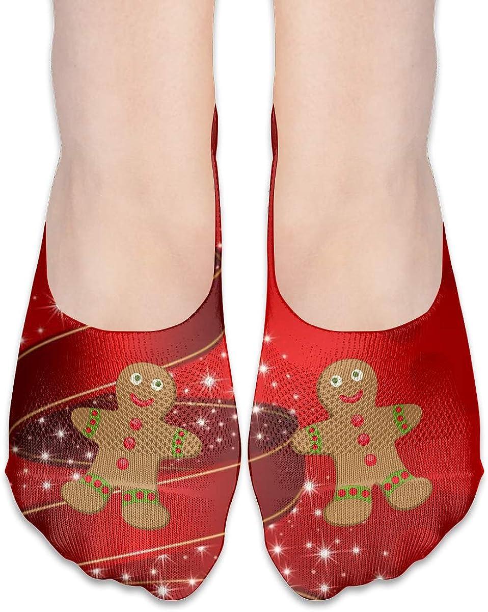 Chistmas Cuties Gingerbread Man Fashion Thin Casual No Show Socks For Womens Girls