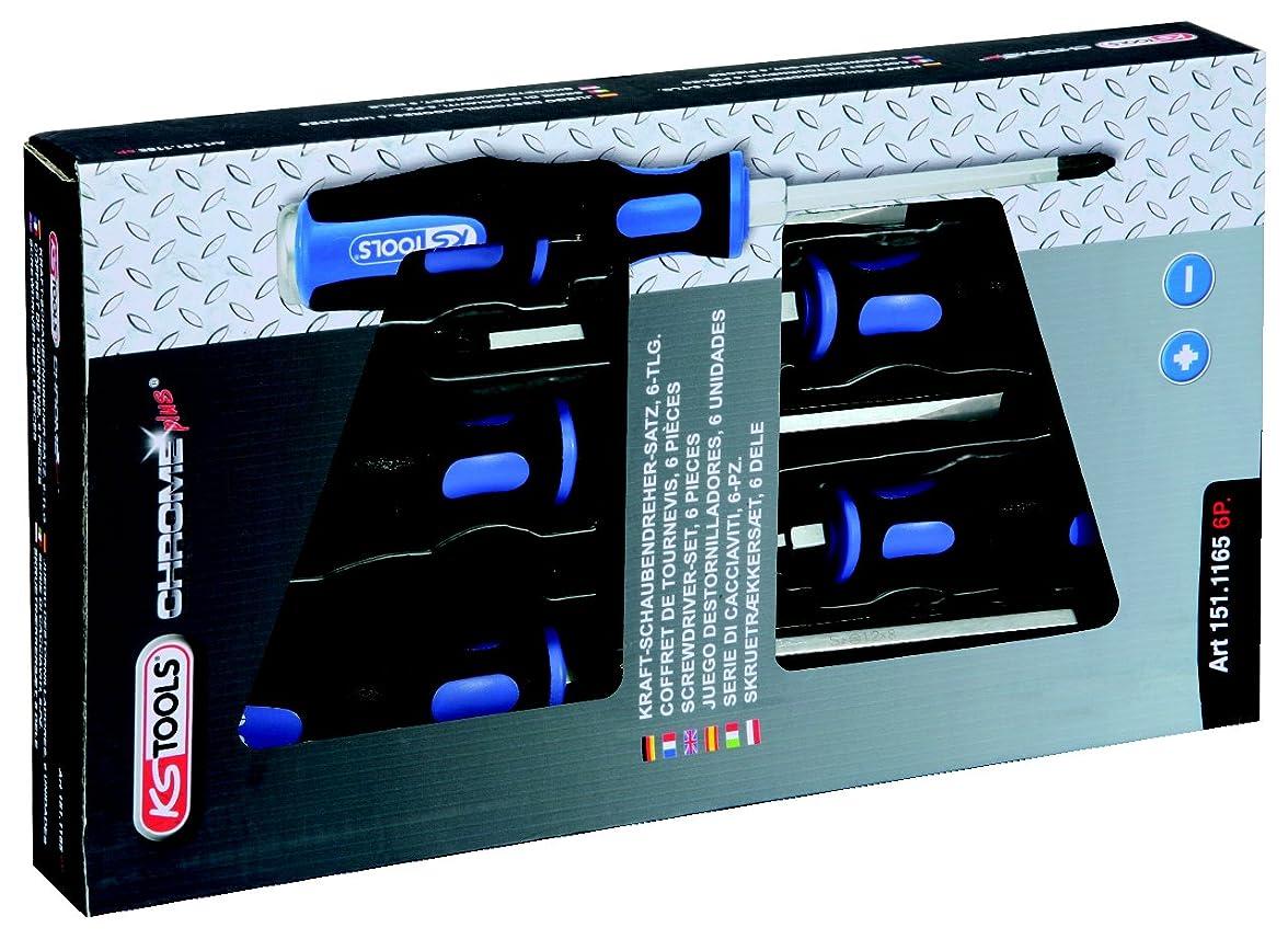 リラックスした遠足じゃない【Amazon.co.jp 限定】KS TOOLS ERGOTORQUEmaxハンマーキャップスクリュードライバーセット スロット6個 PZ ERGOTORQUEmax hammer cap screwdriver set 6 pcs slotted PZ 151.1165