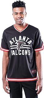 Ultra Game Men`s Standard Jersey V-Neck Mesh Stripe Tee Shirt