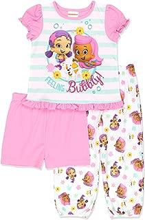 Bubble Guppies Toddler Girls 3 piece Shorts Pajamas Set