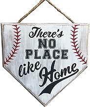 No Place Like Home Baseball Wood Sign Home Plate Coach Gift Rustic Baseball Mom Softball Mom Gifts