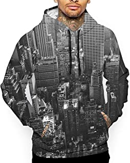 New York City Vintage Picture 3D All Printed Men's Hooded Pullover with Pocket Casual Hoodies Sweatshirt