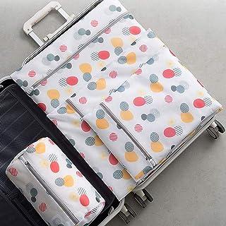 WOYAOFA Travel Storage Bag mesh Bag Underwear Clothes Portable Sorting Bag Induction Clean and Convenient access4 Piece Set Storage Bag (Color : White)