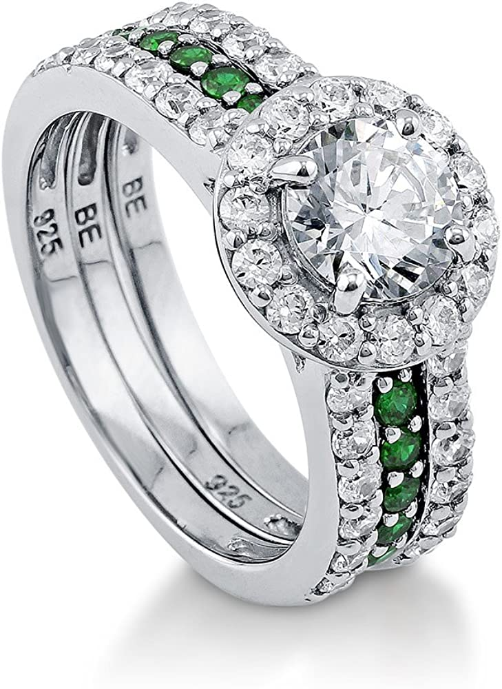 BERRICLE Rhodium Plated Sterling Silver Cubic Round Zirconia CZ New Max 83% OFF Free Shipping