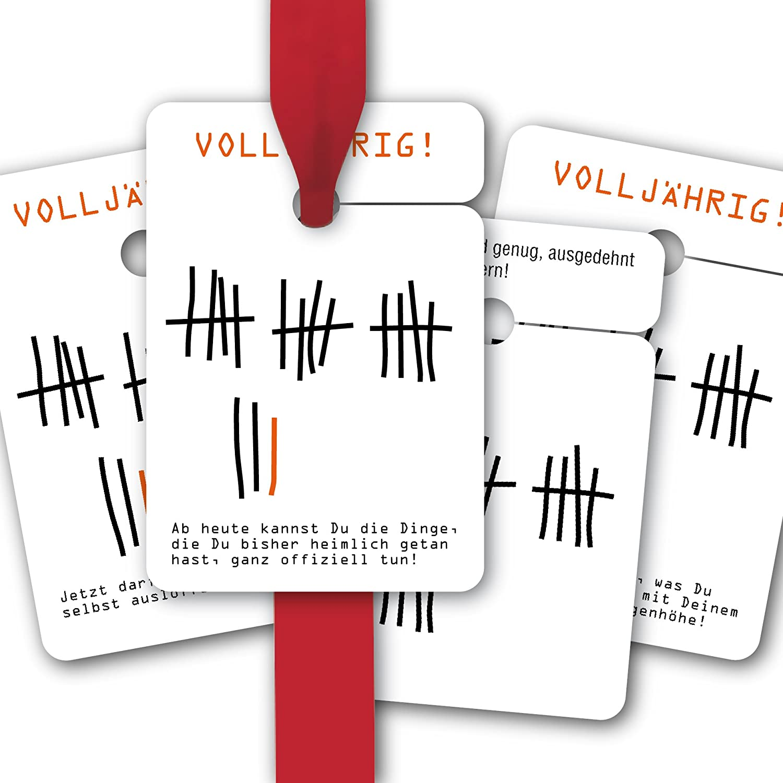 Geburtstags Geschenk Anhänger   Papieranhänger   Geschenk Karten (80Stk) zur 18. und 20. Geburtstag  Volljährig  Ab heute kannst Du die Dinge, die Du bisher heimlich getan hast, ganz offiziell tun    Jetzt darfst Du Deine Sppe selbst ausl&o