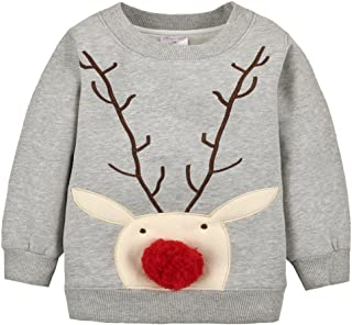 Kedera 2018 Baby Toddler Girl Boy Christmas Sweater Cute Cotton Pullover Sweatshirt