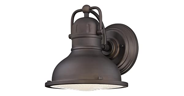 Oil Rubbed Bronze Finish with Clear Prismatic Lens Westinghouse 6203400 Orson One-Light LED Outdoor Wall Fixture