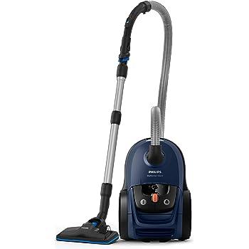 Philips Performer Silent Aspirador con Bolsa, 650 W, 4 litros, 66 Decibelios, Plástico, Azul: Amazon.es: Hogar