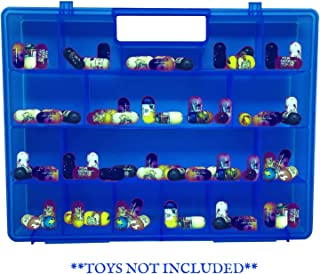 Life Made Better, Superior Blue Toy Storage Carrying Case, Toy Figure Organizer, Compatible with Mighty Beanz. This Box is Not Created by Mighty Beanz