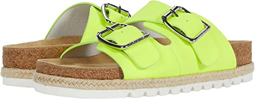 Neon Yellow Leather