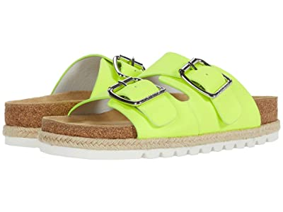 J/Slides Leighton (Neon Yellow Leather) Women
