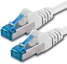 10m - Blanco - 1 Pieza - CAT6 Ethernet LAN Cable de Red Set