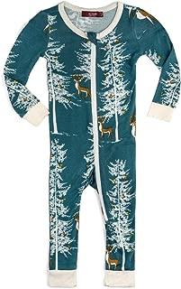 MilkBarn Bamboo Christmas Zipper Pajama - Christmas Buck