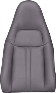 The Seat Shop Work Van Driver or Passenger Top Replacement Seat Cover - Medium Dark Pewter II (Gray) Vinyl (Compatible with 2010-2014 Chevrolet Express and GMC Savana)