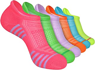 Womens Ankle Socks 6-Pairs Athletic Running Low Cut Socks Cushioned