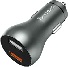 Tsevinsek Fast USB Car Charger Quick Charge 3.0 30W 5.4A Fast Charging Adapter for Samsung Galaxy S10/S9/S8/S7/Plus, Note 9/Note 8, iPhone Xs/XS Max/XR/X / 8/7/ 6/ Plus, Google Pixel and More Phones