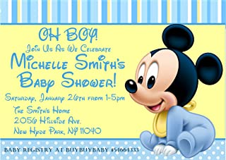 Mickey Mouse Baby Shower Invitations, Mickey Mouse Baby Shower Supplies, Mickey Mouse Baby Shower Invitations with Envelopes