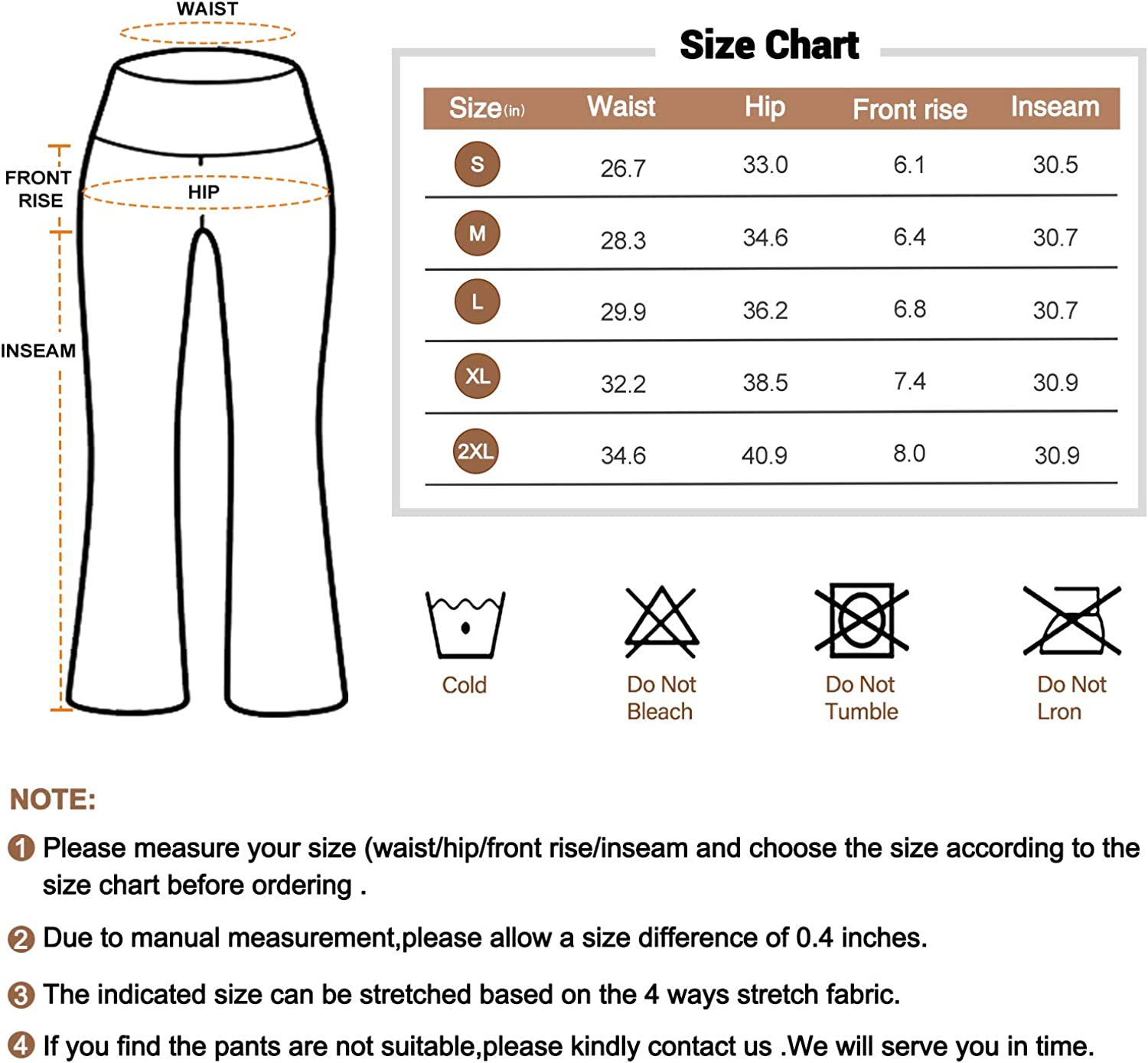 HISKYWIN Bootcut Yoga Pants with Pockets for Women High Waist Workout Bootleg Pants Tummy Control 4 Way Stretch Flare Pants