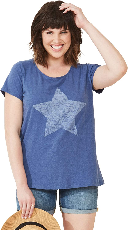 ellos Women's Plus Size Love Tee Shirt