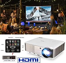 EUG LCD HD Home Theater Projector 1080P 4600 Lumen Digital TV Projector Movies Gaming..
