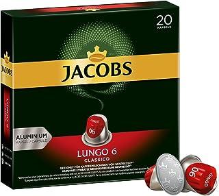 Jacobs Kaffeekapseln Lungo Classico, Intensität 6 von 12, 20 Nespresso kompatible Kapseln, 10 x 20 Getränke