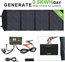 ECO-WORTHY 120W Foldable Solar Panel kit with 20A LCD Charger Controller with USB Port for Portable Generator/Power Station/Battery Bank/Laptop USB Devices