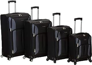 Rockland juego de equipaje de cuatro piezas con ruedas de impacto (45,72 cm, 55,88 cm, 66,04 cm, 76,2 cm), Negro, Una talla