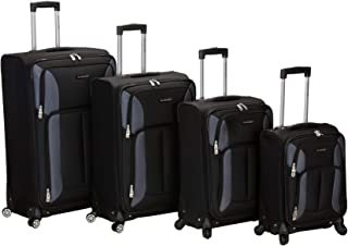 Luggage Impact Spinner 4 Piece Luggage Set, Black, One Size