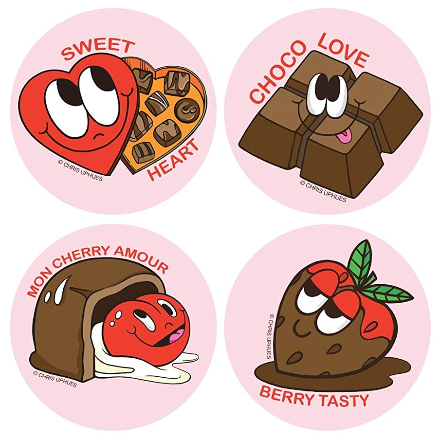 Chris Uphues Scratch N Sniff Sticker Set of 16 - Chocolate Scented