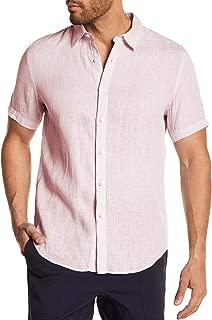 Theory Mens Clark Trim Fit Linen Sport Shirt Small Soft Pink