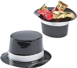 Fun Express - Mini Plastic Black Top Hats (12pc) for Party - Party Decor - General Decor - Centerpieces - Party - 12 Pieces