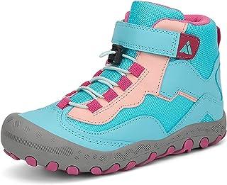 Mishansha Kids Outdoor Hiking Boots Boys Athiletic Ankle Booties Girls Trekking Walking Shoes, B-Blue