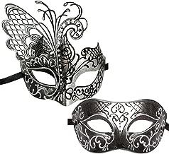 silver masquerade masks for couples