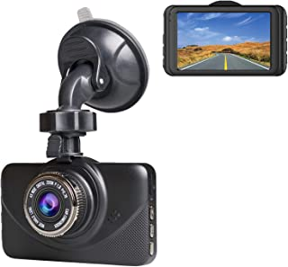 Dash Cam 1080P Car DVR Dashboard Camera Full HD with 3 IPS Screen 170°Wide Angle, WDR, G-Sensor, Loop Recording and Motion Detection.
