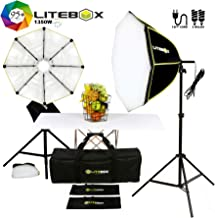 LITEBOX Photography Lighting Kit in a Box | Dual Softbox Lights & Stands for Professional Photo Video Lighting | 5500K (95+ CRI)