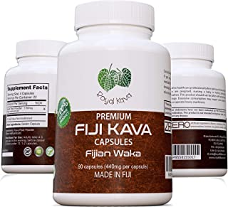 Royal Kava Pure Noble Kava Capsules Highest Grade Fijian Kava Kava Extract 1760mg Servings for Relaxation & Stress Relief ...
