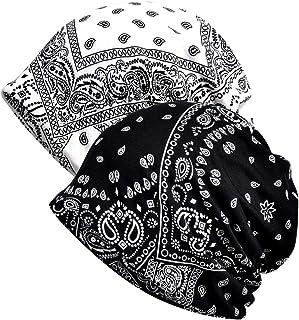 AWAYTR Women Beanie Chemo Hat - Scarf Cap Headwear Turban Cancer Hats, 2 PCS