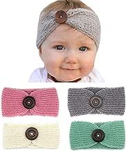 Elesa Miracle Baby Hair Accessories Baby Girl's Nylon Headband Knit Crochet Turban Headband Winter Warm Headband