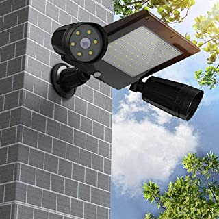 BBZZ Lampe solaire d'extérieur à 76 LED - Étanche - Triple tête - Détecteur de mouvement PIR