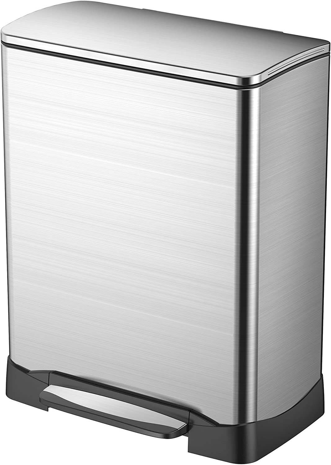 Sale Special Price EKO 92615-1 Neo Cube 13.2 Gallon Step Max 79% OFF Can Trash Steel Stainless