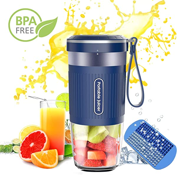 Portable Blender DOUHE Cordless Mini Personal Blender Small Smoothie Blender USB Fruit Juicer Mixer Home Outdoor Travel Office USB Rechargeable IP68 Waterproof BPA Free