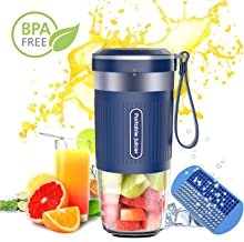 Portable Blender,DOUHE Cordless Mini Personal Blender Small Smoothie Blender USB Fruit Juicer Mixer - Home Outdoor Travel Office - USB Rechargeable,IP68 Waterproof, BPA Free