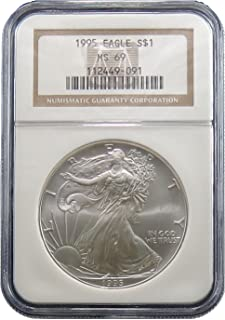 1995 American Silver Eagle Dollar NGC MS-69