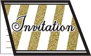 Amazonfr Carte Invitation Anniversaire Or